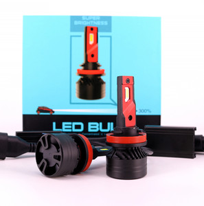 أحدث F3 LED المصباح H4 H13 9004 9007 90W 20000LM مروحة سيارة أدى كشافات لمبة السيارات السيارات أدى المصابيح الأمامية H4 H13 المصباح