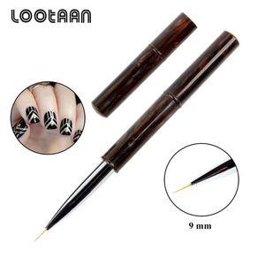 Lootaan 1 Pc акриловые Nail Art Картина Liner Line Drawing кисть 9 мм Manicure Nail Art Pen Tool Gel Brush Striper