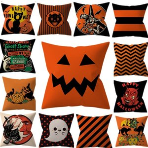 Halloween Kissenbezüge Abdeckung Dekokissen Fall Startseite Sofa Auto Dekorative Weihnachtsgeschenke Startseite Dekorative Ohne Kern XD19855