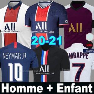 20 21 PSG futbol formaları Paris Saint Germain NEYMAR JR MBAPPE SARABIA ANDER Air JORDAN 50th Yıldönümü 2020 2021 kaleci şampiyonları gömlek erkek bayan çocuk kitleri setleri