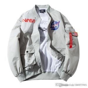 19SS NASA diseñador para hombre chaquetas de diseño de la chaqueta astronauta ma1 de béisbol para hombre Hombres Mujeres Europa Wintercoat rompevientos tamaño de la chaqueta S-4XL