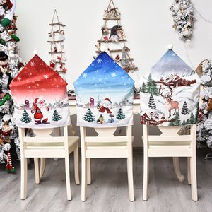 2020 Chair Cover Christmas Decoration Classic Cartoon Chair Cover Creative Doll Christmas Ornaments Fashion Christmas Gifts