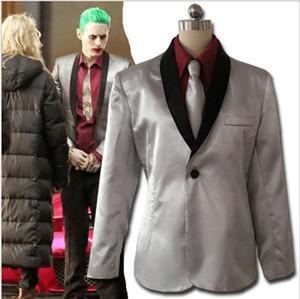 Suicide Squad costume Cosplay Il Joker Cosplay abbigliamento abito d'argento del cappotto del rivestimento Psychos Killers Jacket + shirt + pants + tie