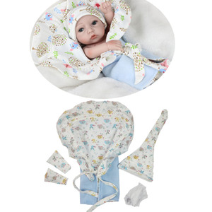10-11inch Reborn Doll 아기 소녀 소년 복장 동물 인쇄 담요 속옷 양말 모자 양복 액세서리