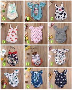 Младенческая новорожденный девочка ползунки onesies детская одежда боди животных цветочные полосатый лимон кактус клубника комбинезон летний комбинезон 0-24 м
