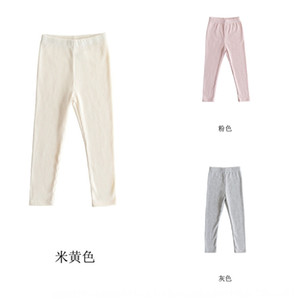 zKohB Children's plush leggings Winter 2019 hundred-match tight warm thickened warm pants big girls plush thickened children's pants parent-