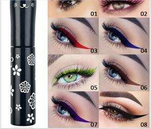 maquillage en gros New eye-liner de couleur mate chat mignon doublure imperméable fard à paupières longue durée liquide nouveau style chaud