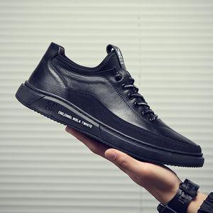 VastWave Welt Строчка Подошва Люди Повседневной обувь кроссовки Lace Up For Mens ботинки отдых Удобная плоские Мокасины Холст обувь