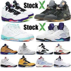 Mens Jordan 5 5s Suede Shoes Basketball Sneaker cimento branco Michigan Sneakers chaussures Designer treinador Sneakers homens tamanho 7-13