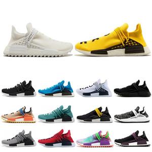 Adidas nmd human race caliente Hu raza humana Hu trail pharrel blanco azul para hombre mujeres zapatillas Holi Black nerd Zapatillas amarillo zapatillas de diseño zapatillas de deporte tamaño 36-45