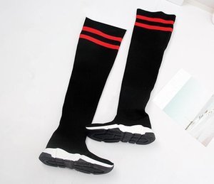 Hot Selling Original Box Mixed Colors Thigh High Woman Boots Speed Trainer Race Shoes Slip On Casual Boots Woman Flat Size 35-40 02