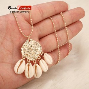 Gold color Choker Necklace for women 1 Layer full shell sequin Pendant Chain Necklaces & Pendants velvet chokers Fashion Jewelry