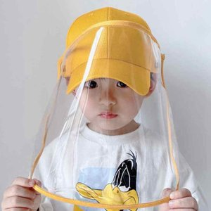 Children Face Shield Hat Kid Anti-spray Baby Protective Cap Boy And Girl Shade Baseball Cap Hat With Face Shield Cover ZZA2223 60Pcs