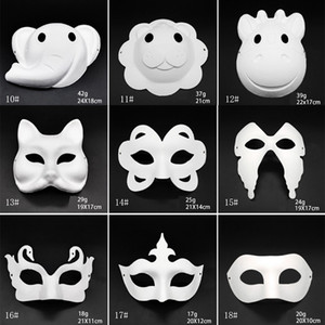 Makyaj Dans Beyaz Maskeleri Embriyo Kalıp DIY Boyama El Yapımı Maske Hamuru Hayvan Cadılar Bayramı Festivali Parti Maskeleri Beyaz Kağıt Yüz Maskesi DBC BH2912