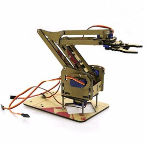 Dominbot DIY 4DOF for Hordino Acrylic Rc Robot Arm Griper Educational Kit With MG90S Servos Y200317