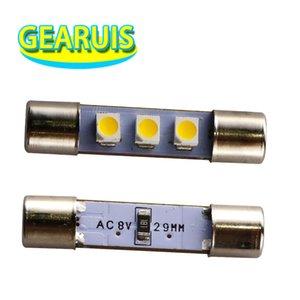 10шт AC 8V Marantz приемник чтения света T6. 3 наводнение фестон C5W 29 мм 31 мм 3 SMD 1210 3528 LED номерного знака свет 8V