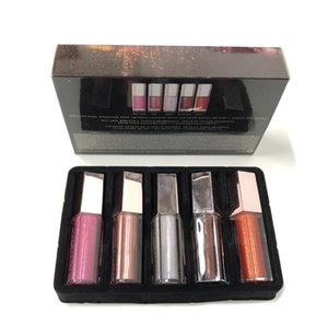 New Lip Gloss Set de Noël Mini diamant Lip Glaze Lip Gloss 5 pièces Gloss Bombe Festive Collection ePacket Livraison gratuite