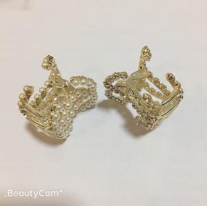 5x4cm Fashion C perle griffe épingle à cheveux de forage d'eau de serrage pour le cadeau de design de luxe dames collection bijoux accessoires cheveux pince