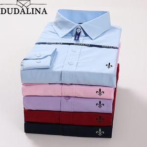 Dudalina Plus Size Hombre Hombre Camisa Masculina Manga Larga Blusa De Frio Hombre Social Masculina Slim Fit Reserva