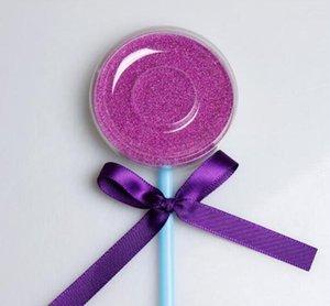 pink blue Shimmer Lollipop Lashes Package Box 3D Mink Eyelashes Boxes Fake False Eyelashes Packaging Case Empty Eyelash Box Cosmetic Tools