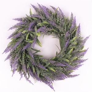 Yapay Çiçek Garland İpek Lavanta Çelenk Romantik Taze Stil Düğün Dekor için Heads Heads Fotoğraf Moda Tek Ürün