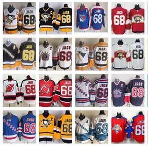 CCM Men 68 Jaromir Jagr Jerseys Pittsburgh Penguins New York Rangers Jaromir Jagr Jersey Florida Panthers Stitched Vintage Hockey Jerseys