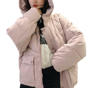 Women Parka Coat Loose Cotton-padded Jacket Hooded Hoodie Tops Autumn Winter Warm Overcoat Outerwear Female Coats