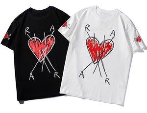 Модный бренд дизайнер роскошная футболка red heart little devil хип-хоп мужская одежда повседневная футболка женская мужская футболка с буквенным принтом