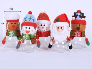 Nouvelle vente chaude cadeaux enfants du Père Noël forme de bonhomme de neige Elk bonbons pot Décorations de Noël Candy Box fournit HH9-A2578