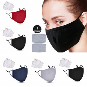 Reusable Mask PM2.5 Anti Haze Breath Valve Anti Dust Cotton Mouth Masks with Activated Carbon Filter Respirator washable Face Mask