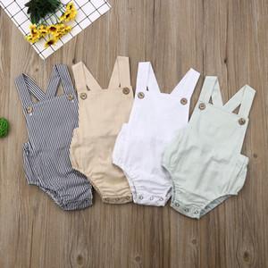 Лето новорожденного младенца ползунки комбинезон комбинезон наряды одежда одежда