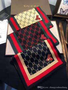18 / designers projetar lenços de algodão de seda de lã impressos elegantes e luxuosos para homens e mulheres