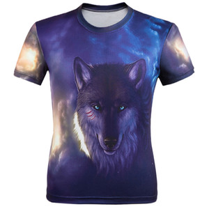 2019 BIAN YI LONG men fashion t-shirt Wolf print Hipster funny t-shirt men Summer Casual street hip-hopT-shirt Man tops 5XL