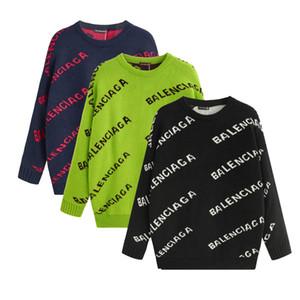 Männer Frauen Pullover Pullover Luxus MarkeHoodie Langarm-Entwurf Sweatshirt Mens Fashion Letter Print Strick Pullover Winterkleidung