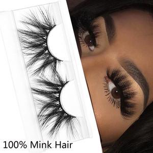 3D Vison Cils 100% réel Mink Lashes 25 mm long Dramatic épais Faux Lash main Croisillon Cils Extensions beauté maquillage 18 Styles