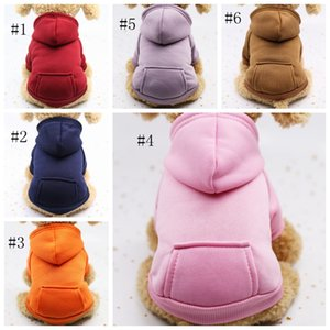 Pet Dog Clothes Warm Dog Hoodies Coat Pocket Jackets Puppy Pet Overalls Small Dog Costume Pets Outfits Pet Supplies 10pcs DSL-YW1508