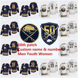 Camisola de patch de 50 anos do Buffalo Sabres Gold Jack Eichel Rasmus Dahlin Jake McCabe Jeff Oreilly Marcus Johansson Jerseys
