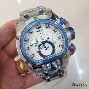 Hot Luxury Men Watch Reserve Bolt Zeus Magnum Water Resistant Plated Dual Time Big Dial Swiss Quartz watch