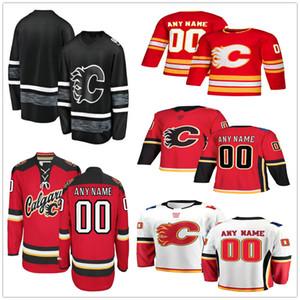 Custom Calgary Flames # 2 Al Macinnis 88 Andrew Mangiapane 27 Austin Czarnik 21 Garnet Hathaway Uomo Donna Bambino Youth Hockey Maglie