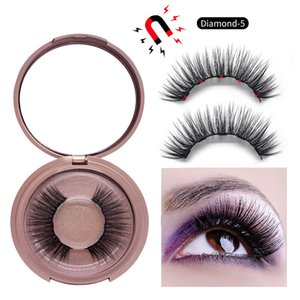 DHL free 5 Magnetic False Eyelashes 9 styles Magnet Fake eyelashes Eye Makeup Kits Eyelash 50pair by win007