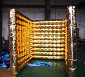 2,5 m di nozze decoartion muro Tutta oro gonfiabile sfondo stare gonfiabile portatile Photo Booth pubblicità muro di aria gonfiabile