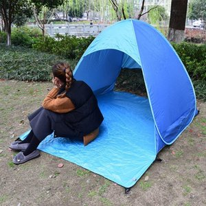 2020 Automatic Up Instant Portable Outdoors Quick Cabana Beach Tent Sun Shelter,Blue7f31#