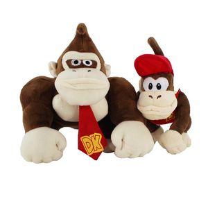 Два стиля Супер Марио Брос обезьяна Донки Конг и Дидди мягкие мягкие плюшевые игрушки подарки на День рождения дети Бесплатная доставка
