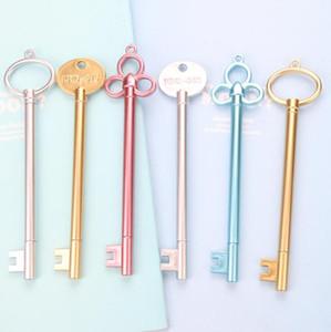 Altın Anahtar Nötr Kalem Yaratıcı Kawaii Kırtasiye Kalemler Malzeme Plastik Ofis Okul Papelaria Çocuk Hediyeler Malzemeleri LXL601-1