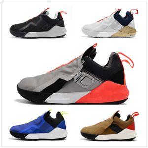Джеймс солдата XI 11 Темно-синий мужчин 2019 Баскетбол обувь Леброн Черный Белый Спортивные кроссовки Леброн Джеймс 11 поколения армейские ботинки Top QUALI