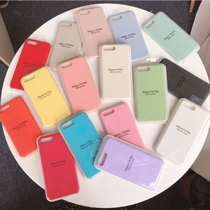 Official Original Silicone Phone Case For iPhone 6 6S 7 8 Plus X XS Max XR 11 Pro Max Have LOGO Silicone Shockproof Cover With Retail Box