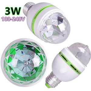 E27 3W 6W LED RGB Rotating coloré automatique Ampoule Party scène Effet lumière lampe Disco Light pour la maison Décoration Lampes d'éclairage