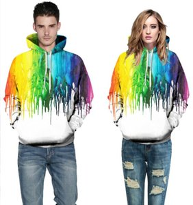 2019 Explosion models digital printing large size loose hooded couple sweaters new hooded shirts wholesale 042