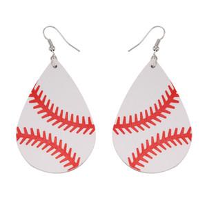 PU Boucles d'oreilles en cuir Mode 2020 Sport Larme Boucles d'oreilles de base-ball Softball Boucles d'oreilles Ladies Jeweries Et Earing DOM-1081523