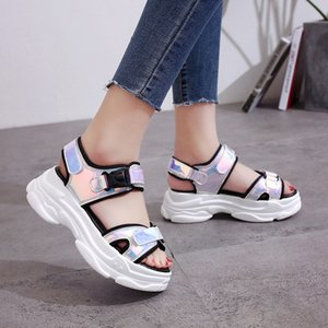 Sandals Women 2020 Summer Wedge Shoes Fashion Open Toe Beach Gladiator Sandals Casual Outdoor Platform Thick Bottom Sandalias
